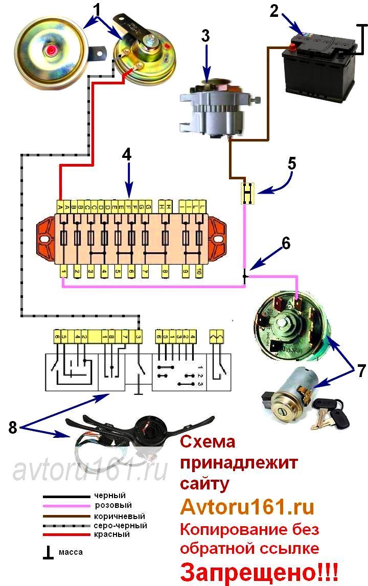 ваз 2106 дворники электрическая схема