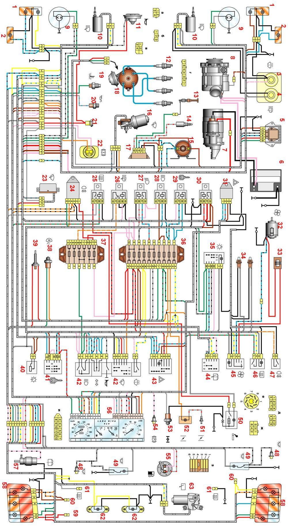 2107 схема электрическая 2018 года