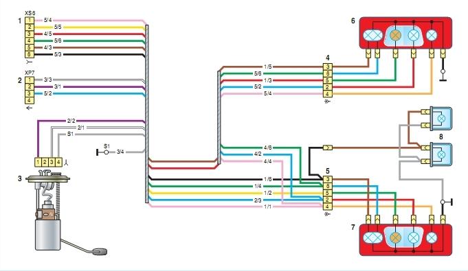 сигналов Схема бензонасоса