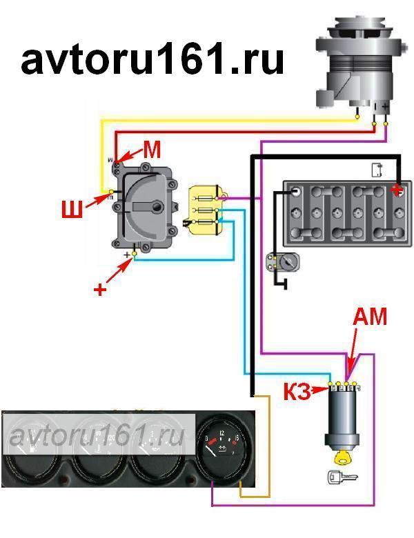 Схема зарядки и подключение